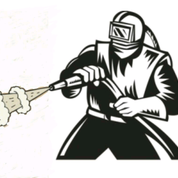 Graphic of Worker in Blasting Suit